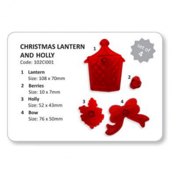JEM Christmas Lantern & Holly