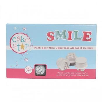 Cake Star Push Easy Mini Cutters - Uppercase Alphabet Set 26 Pc