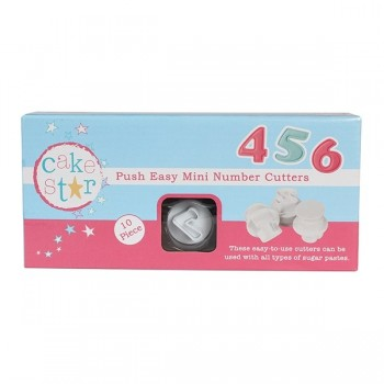 Cake Star Push Easy Cutters - Mini Numbers - 10 Pc