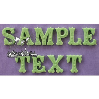 Alphabet Moulds - Zebrawood decorative font - Lettering