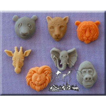 Alphabet Moulds - Small Animal Heads