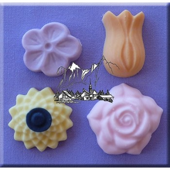 Alphabet Moulds - Flowers 4 in 1 - chocoladevorm