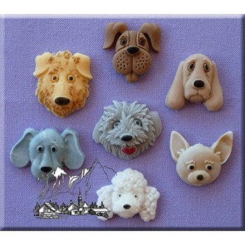 Alphabet Moulds - Dogs Heads