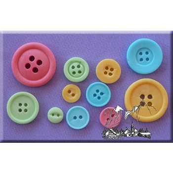 Alphabet Moulds - Buttons Plain