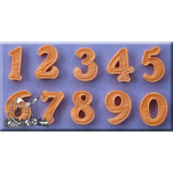 Alphabet Moulds - Numbers Gradient Fill 18mm