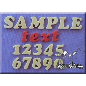 Alphabet Moulds Alphabet Cookie Font 18mm