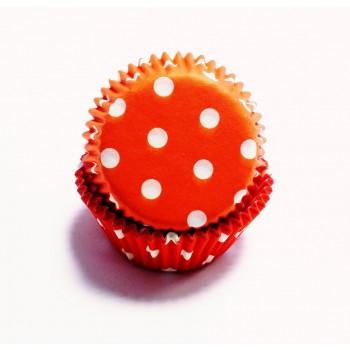 PME Red Polka Dots Mini Baking Cases Pk/100