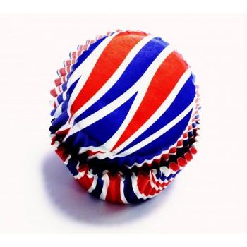 PME Patriotic Swirls Standard Baking Cases Pk/60