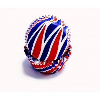 PME Patriotic Swirls Mini Baking Cases Pk/100