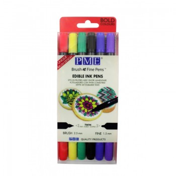 Brush n Fine Pen™ Wallet of 6 – Bold Colours