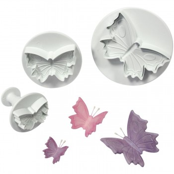PME Veined Butterfly Plunger Cutter Set
