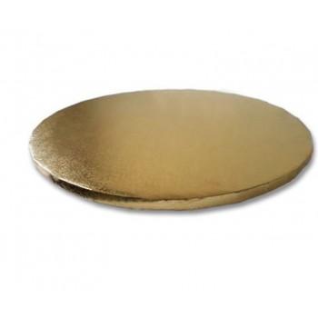 Azucren Cake Drum Rond 30cm - Goud