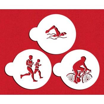 Designer Stencils Thriathlon Cookie Stencil