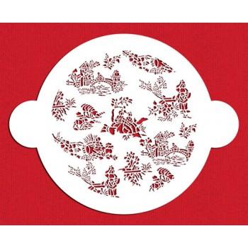 Designer stencils Small French Toile Cake Top