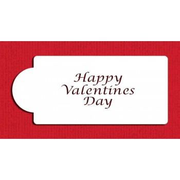 Designer Stencils Happy Valentines Day Business Card