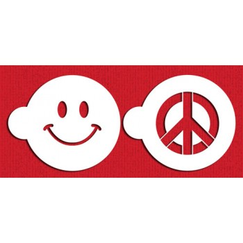 Designer Stencils Peace & Happiness Cookie Set