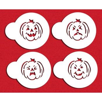 Designer Stencils Mini Halloween Jack O Lantern Faces