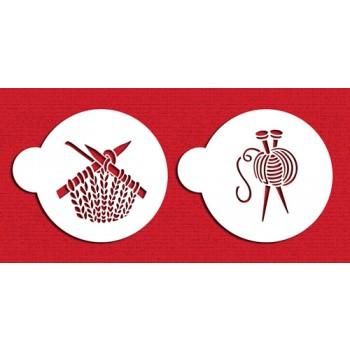 Designer Stencils Knitting Cookie Set
