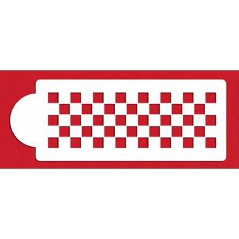 Designer Stencils Checkerboard Cake Side