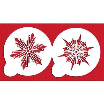 Designer Stencils Large Crystal Snowflakes #3