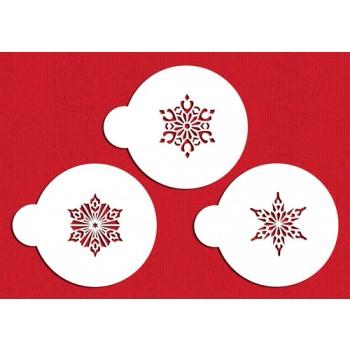 Designer Stencils Small Crystal Snowflakes #2