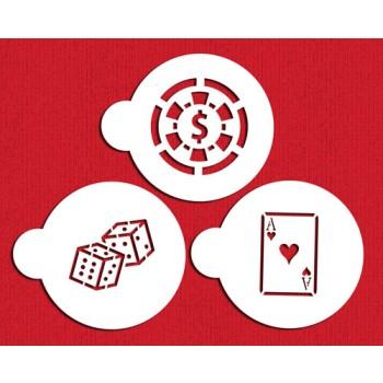 Designer Stencils Casino Night Cookie Stencil