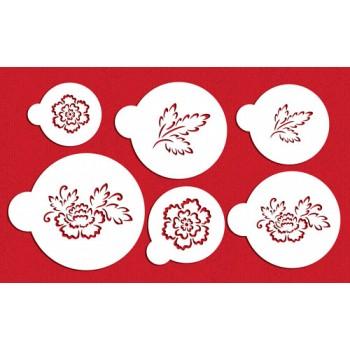 Designer Stencils Brush Embroidery Flower Set
