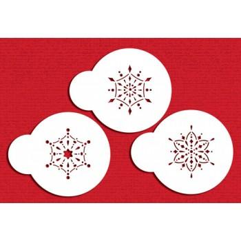 Designer Stencils Mini Jewelled Snowflakes Cupcake Stencil