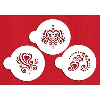 Designer Stencils Amore Cookie Stencil Set