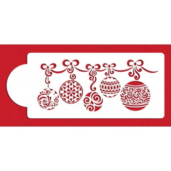 Designer Stencils Christmas Ball Swag