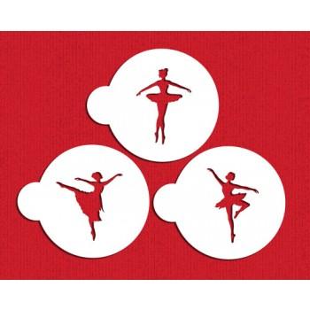 Designer Stencils Ballerina Cookie Stencil Set