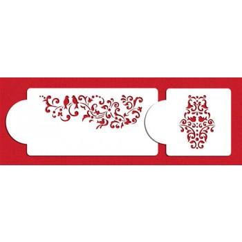 Designer stencils Songbird Cake Side Stencil Set