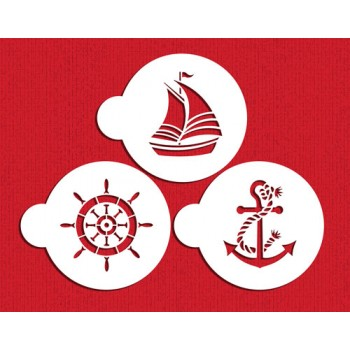 Designer Stencils Sailor's Delight Cookie Stencil Set