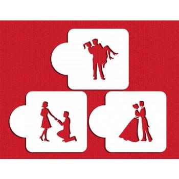 Designer Stencils Stages of Love Silhouette