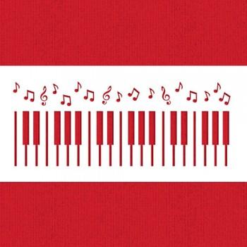 Designer Stencils Piano Keys Cake Stencil