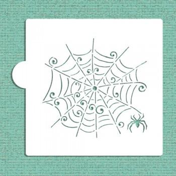 Designer Stencils Whimsical Spiderweb Cookie and Craft Stencil