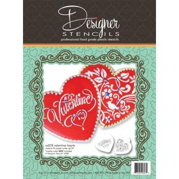 Designer Stencils Valentine Heart Set