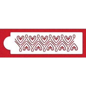 Designer Stencils Repeating Heart by GSA