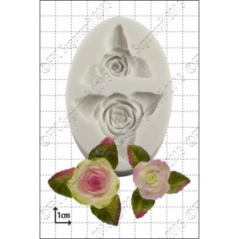 FPC Roses and Leaves Silicone Mould