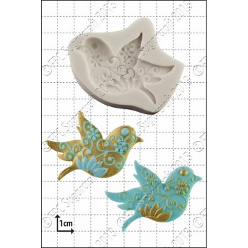 FPC Floral Bird Silicone Mould