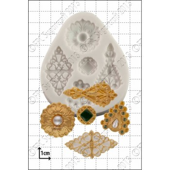 FPC Filigree Brooches Silicone Mould