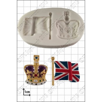 FPC Crown & Flag Silicone Mould