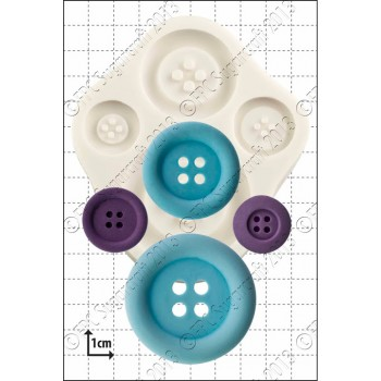 FPC Large Buttons Silicone Mould