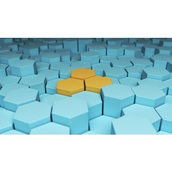 Styropor taart dummy Hexagon 10 cm - 7cm hoog