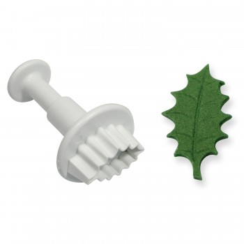 PME Veined Holly Leaf Plunger Cutter S