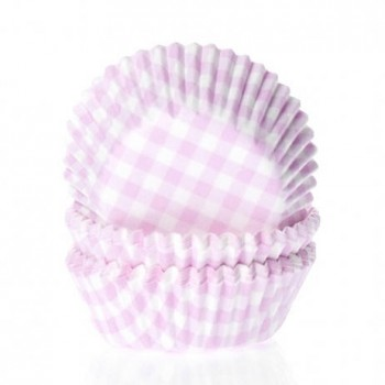 House of Marie Mini Baking cups Ruit Roze - pk/60