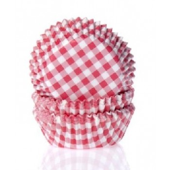 House of Marie Baking Cups Ruit Rood Small pk/50