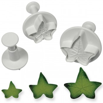 PME Veined Ivy Leaf Plunger cutter set