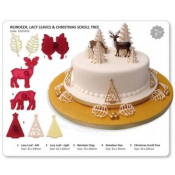 JEM Christmas Set (Reindeer, Lacy Leaves & Scroll Tree)