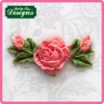 Katy Sue Designs - Rose, Bud & Leaf Decoration